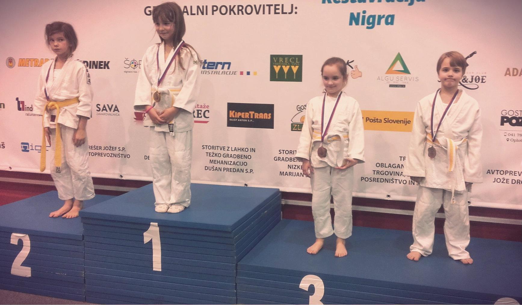 judoistka judo kluba bela krajina Kavčičeva-osvoji 3. mesto