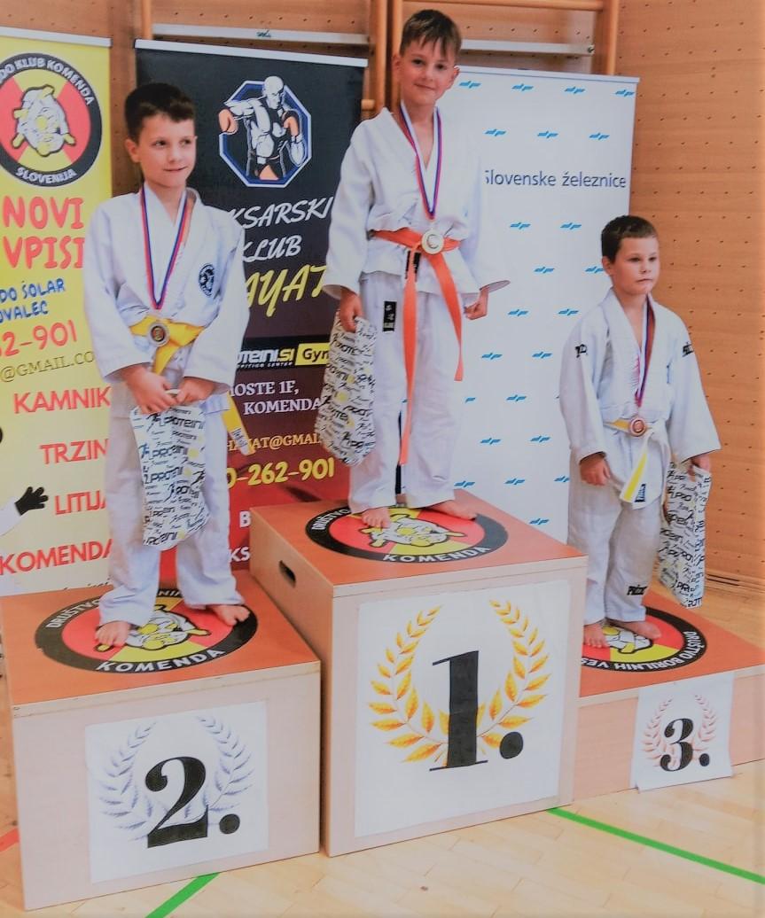 judo klub bela krajina na tekmovanju v Komendi 09.10.2021